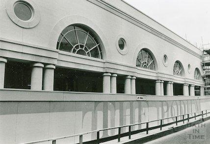 Podium Centre, Northgate Street. Part of development site in November, 1989