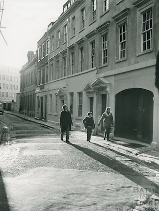 Corner of Pierrepont Place and Orchard Street after restoration work, Jan 1972