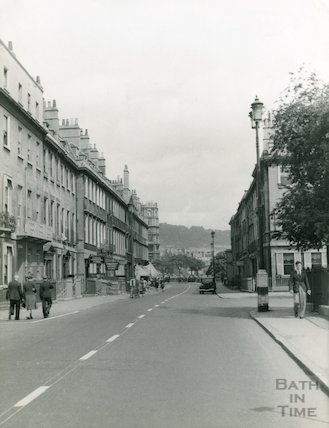 Pierrepont Street looking towards Parade Gardens, c.1940s