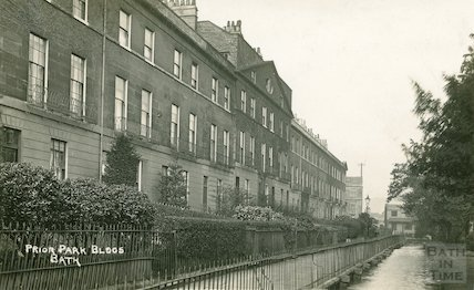Prior Park Buildings. View of facade and Prior Park Road, c.1930