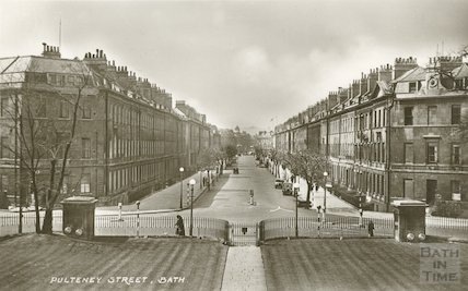 View down Great Pulteney Street from the Holburne Museum, c.1930s?