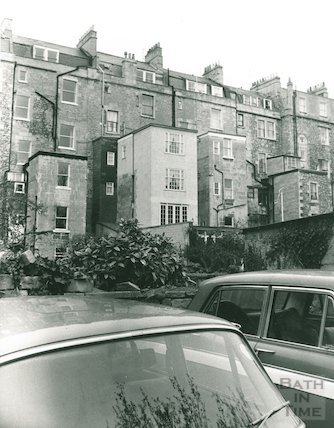 Extension behind house in Great Pulteney Street, 1974
