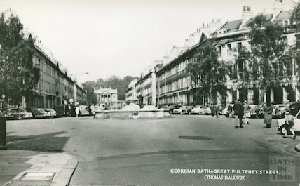 Laura Place and Great Pulteney Street, c.1950s