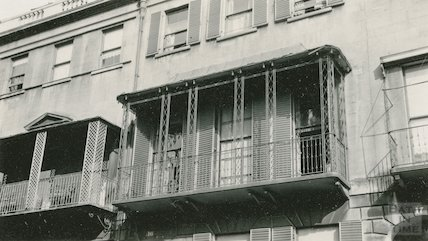 Balcony of No 17 Raby Place, c.1915