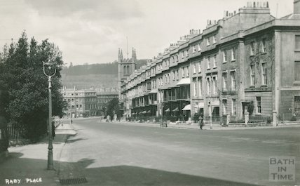 Raby Place looking towards St Mary's Church, Bathwick Hill, c.1930