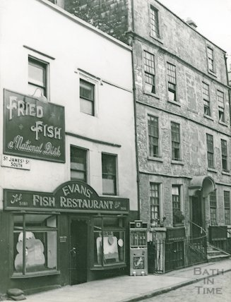 Evans Fish Restaurant, St. James's Street South, view looking south c.1960
