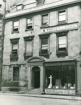 4, St. James's Street (South), Bath. B. Turvey and Sons, monumental masons, c.1930?