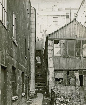 St Michael's Court, view looking west (off Walcot Street,) 1936