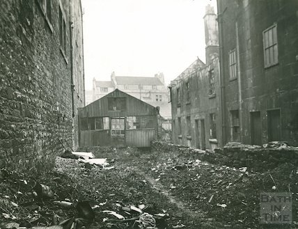 St Michael's Court, view looking east (off Walcot Street,) c.1930s
