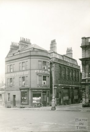 New Westgate Buildings. View from Sawclose showing Lee's Fish and Oyster Bar, 1936