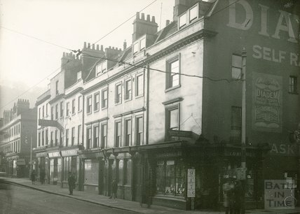 Southgate Street showing corner of Corn Street to Somerset Street, 1933