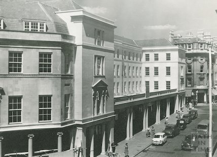 Stall Street showing Arlington House on the site of the Grand Pump Room Hotel 1961