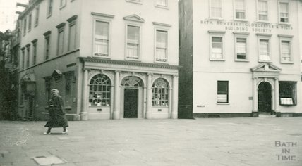 Shop front and door case, Terrace Walk, c.1950s