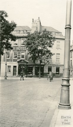 Terrace Walk. Corner looking west towards York Street, c.1915