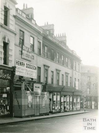 East side, lower end, Union Street, Bath, 1936