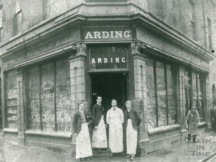 Arding's shop, Union Street, c.1885