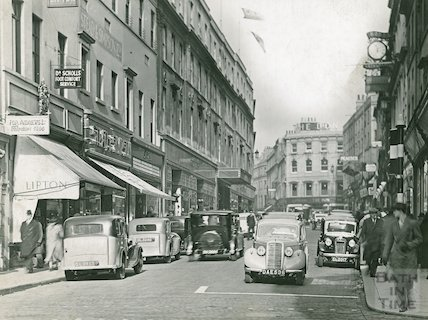 Looking up Union Street, c.1940s