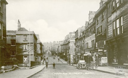 Charles Street. View from Green Park Railway station, c.1912