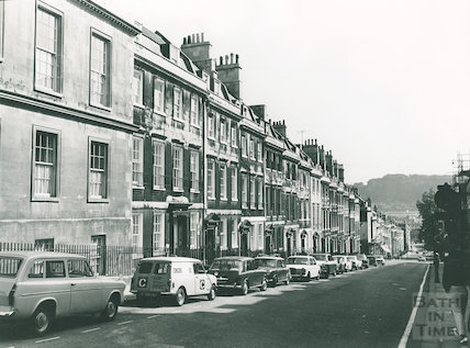 Gay Street, the east side looking down towards Queen Square. Oct 1972