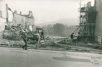 Saracen Street under construction, September 1970