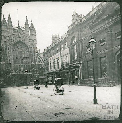 Bath Chairs on Abbey Church Yard, c.1890