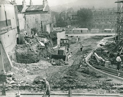 The construction of Saracen Street, 1 Sept 1970