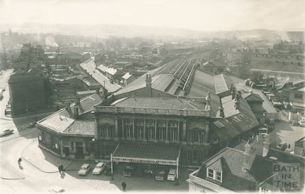 Aerial View of Green Park Station and Midland Railway, c.1950s