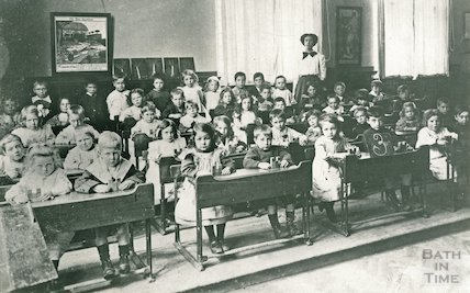 Pupils at Walcot Central Mixed Infants School, November 1912
