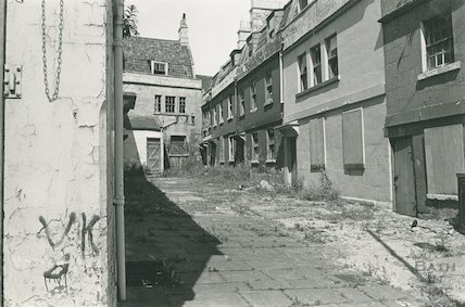 The derelict St Anne's Place off New Kings Street, Bath, 19 August 1974