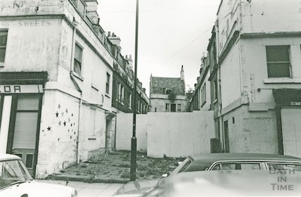 The derelict St Anne's Place off New Kings Street, Bath, 5 May 1981