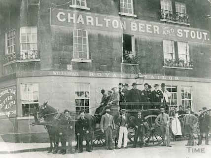 The Royal Sailor on the corner of Wells Road and Holloway, c.1880