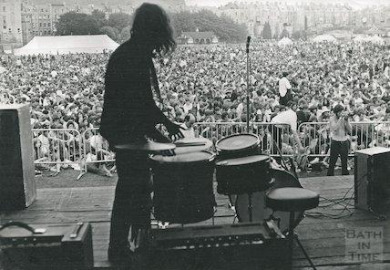 Setting up for Bath Blues Festival, June 28th 1969