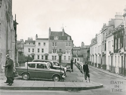 View from Barton Street to Beauford Square, Bath c.1965
