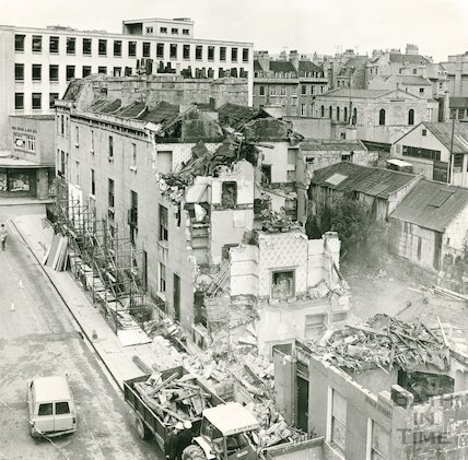 Demolition of buildings on Phillip Street, Bath, 9 November 1970