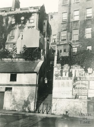 The steps from Walcot Street to the Paragon, c.1960s