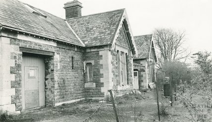 The derelict Weston Station, 6 April 1981
