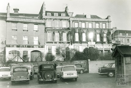 Sawclose, looking towards the Theatre Royal and Garrick's Head, 1962