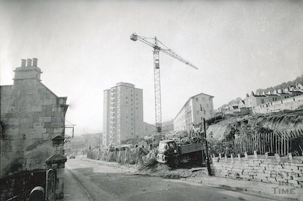 Snow Hill, Bath during development, c.1961