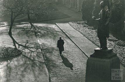 An atmospheric view of Parade Gardens, Bath, c.1950s?