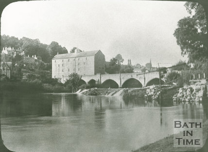 The Toll Bridge, Weir and Batheaston Mill, c.1900