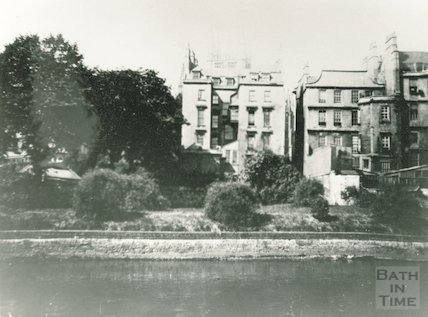 The rear of Nassau House, Orange Grove, Bath, c.1900