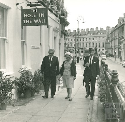 The Hole in the Wall Restaurant, George Street, Bath, 16 August 1971