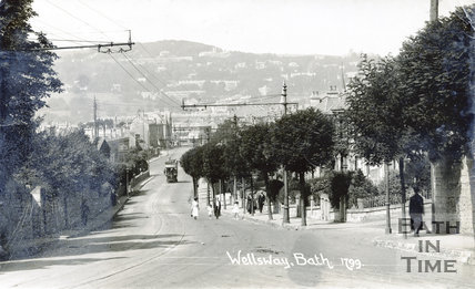 The Wellsway, Bath looking towards Bear Flat, c.1919