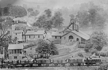 Writhlington Colliery and train from Brays Down Colliery, c.1900s