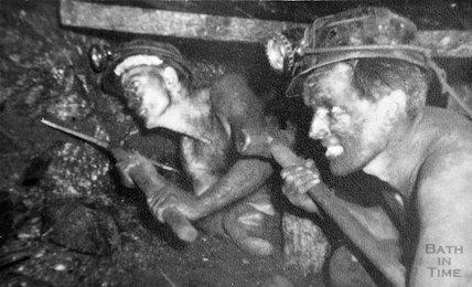 Coal miners underground, c.1920s?