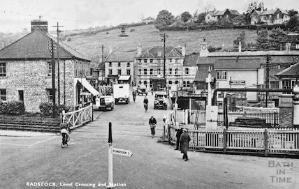 Radstock Level Crossing and station, c.1920s