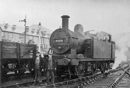 Engine no.47276 outside the Radstock locomotive depot, c.1960s?