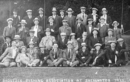 The Radstock Fishing Association at Shearwater, Longleat, 1925