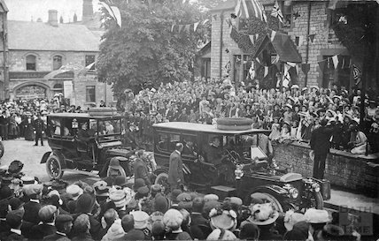 A Royal Procession and visit to the Radstock area, c.1900s?