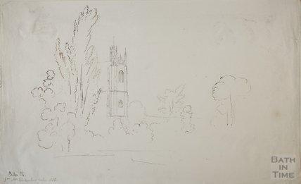 Sketch of Bitton Church, 1835